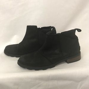 Sorrel 8 Leather Emelie Booties Ankle Boots